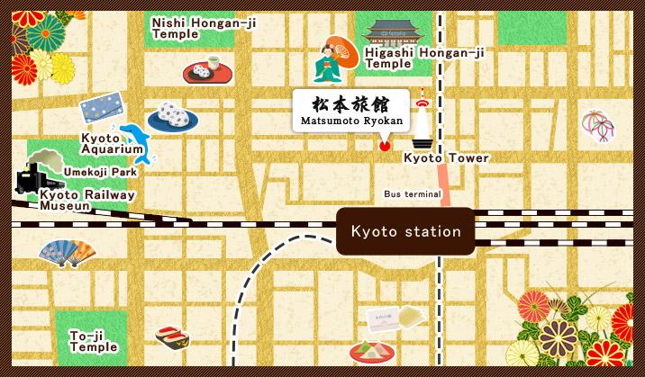 Sightseeing around Link Matsumoto Ryokan In front of JR Kyoto